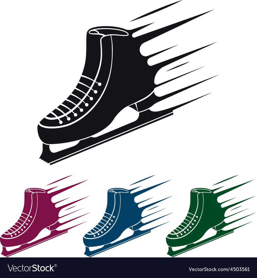 Ice skate icon vector | Price: 1 Credit (USD $1)