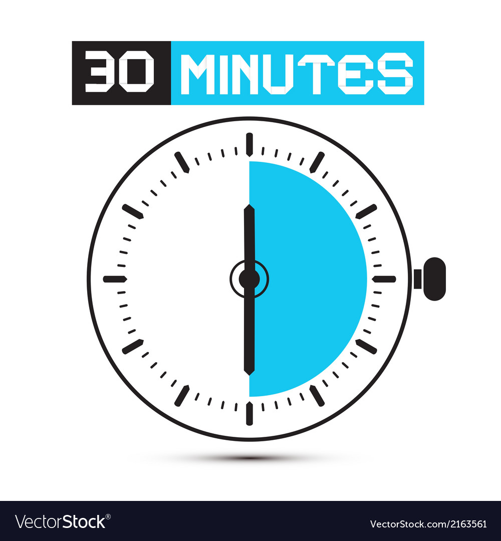 Thirty minutes stop watch  clock vector