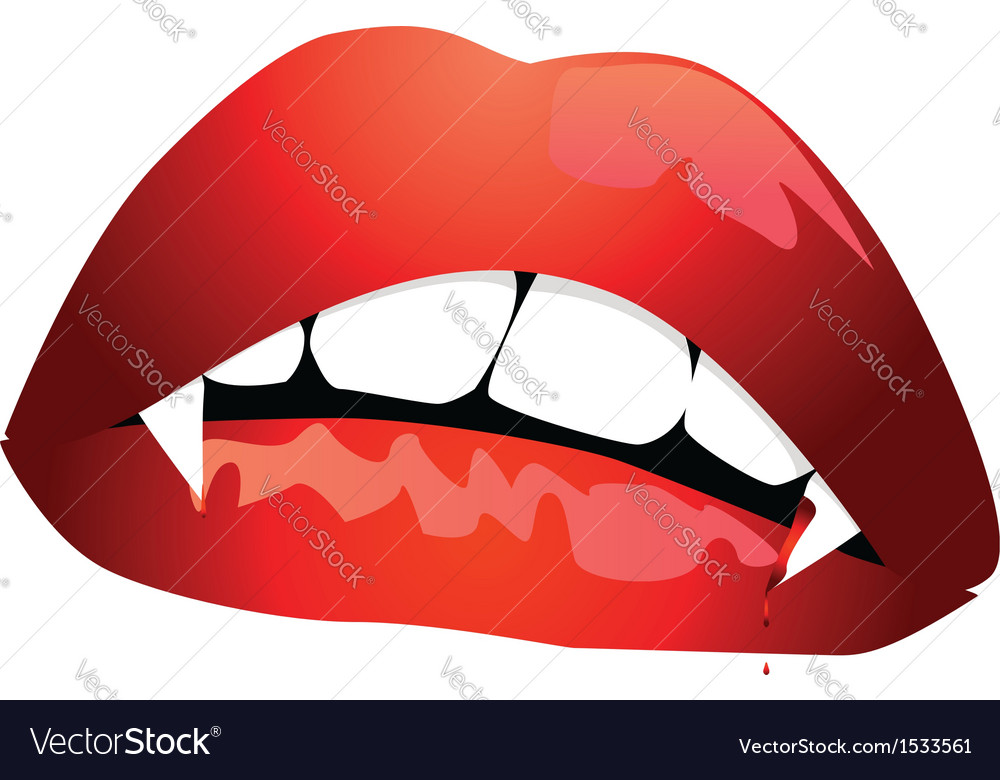 Vampire mouth vector | Price: 1 Credit (USD $1)