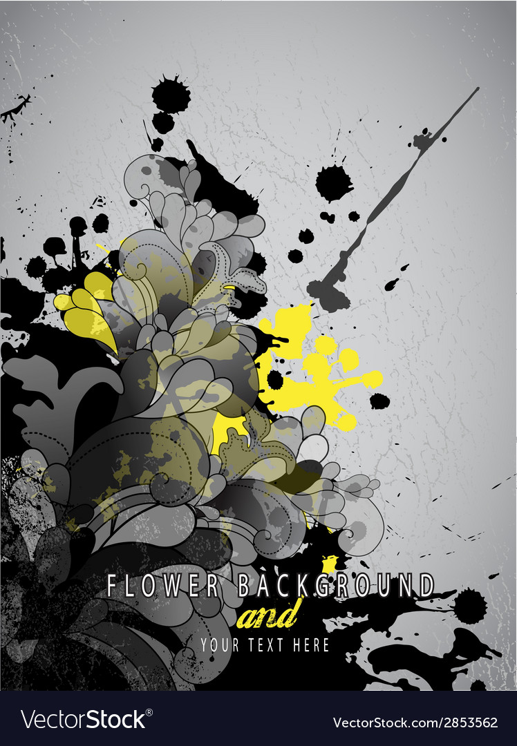 Abstract splash background with flower pattern and vector | Price: 1 Credit (USD $1)