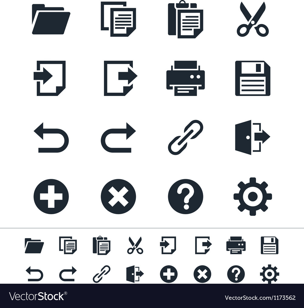 Application toolbar icons vector | Price: 1 Credit (USD $1)