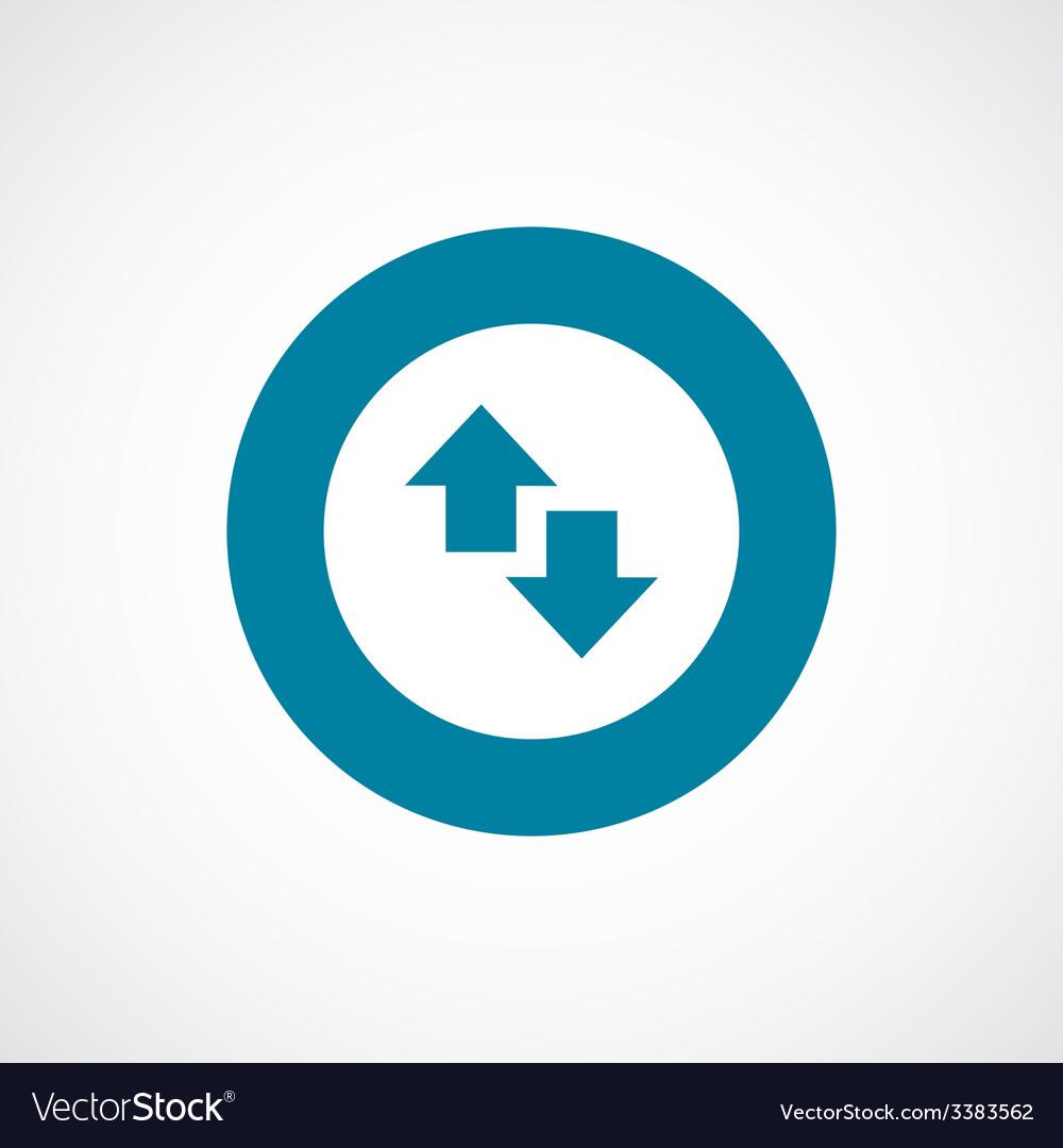 Arrow bold blue border circle icon vector | Price: 1 Credit (USD $1)