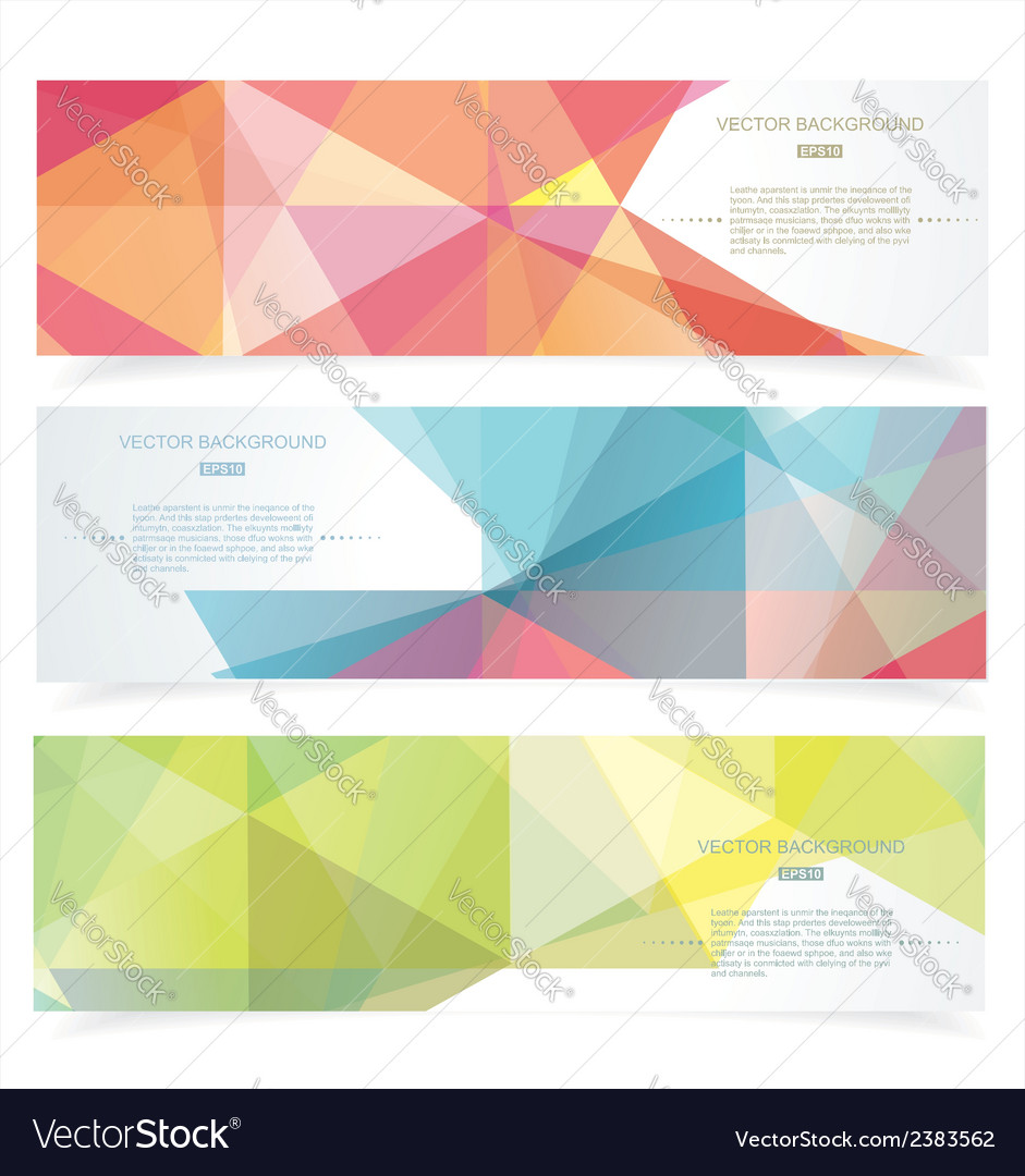 Banners with pattern of geometric shapes vector | Price: 1 Credit (USD $1)