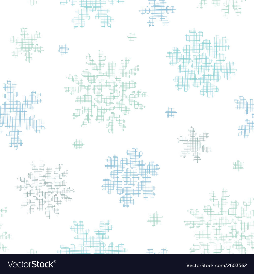 Blue christmas snowflakes textile texture seamless vector | Price: 1 Credit (USD $1)