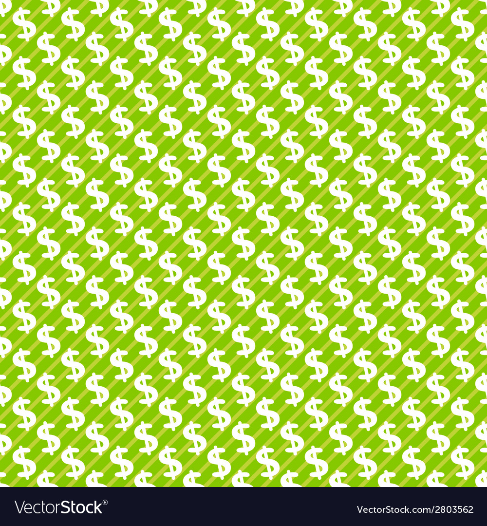 Dollar sign abstract seamless pattern background vector | Price: 1 Credit (USD $1)