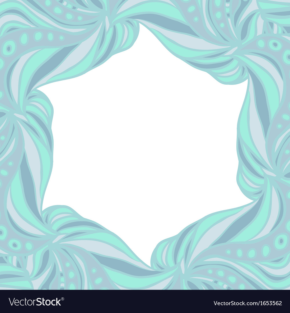 Light blue hexagonal frame vector | Price: 1 Credit (USD $1)