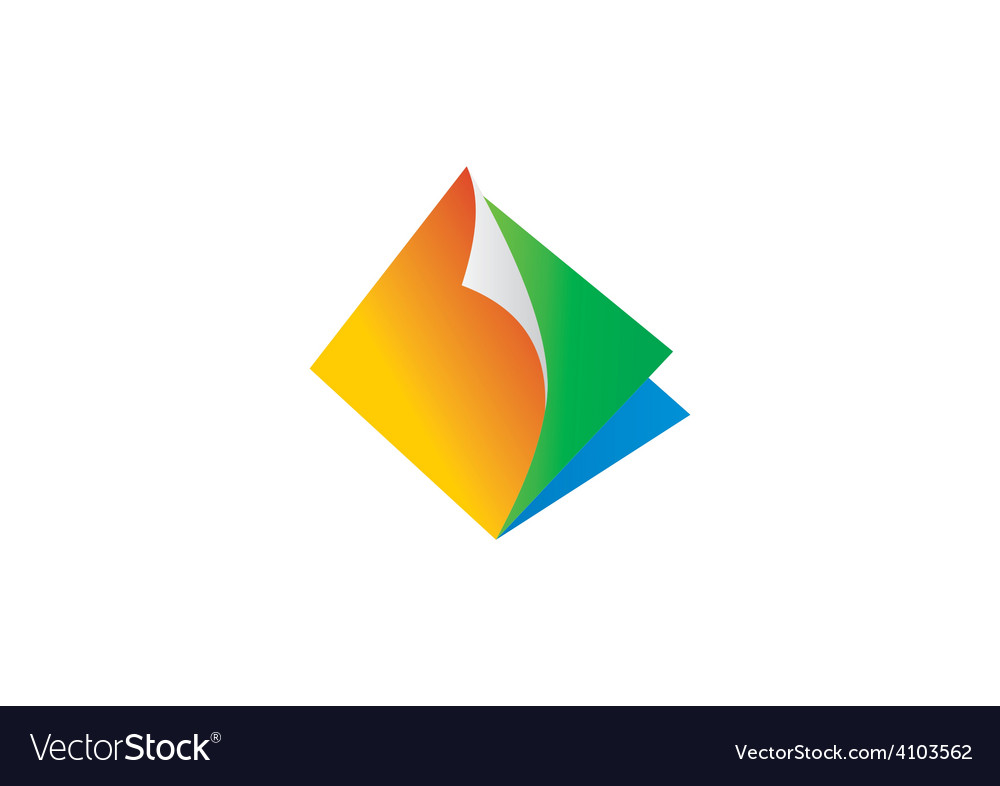 Paper fold document file abstract logo vector   Price: 1 Credit (USD $1)