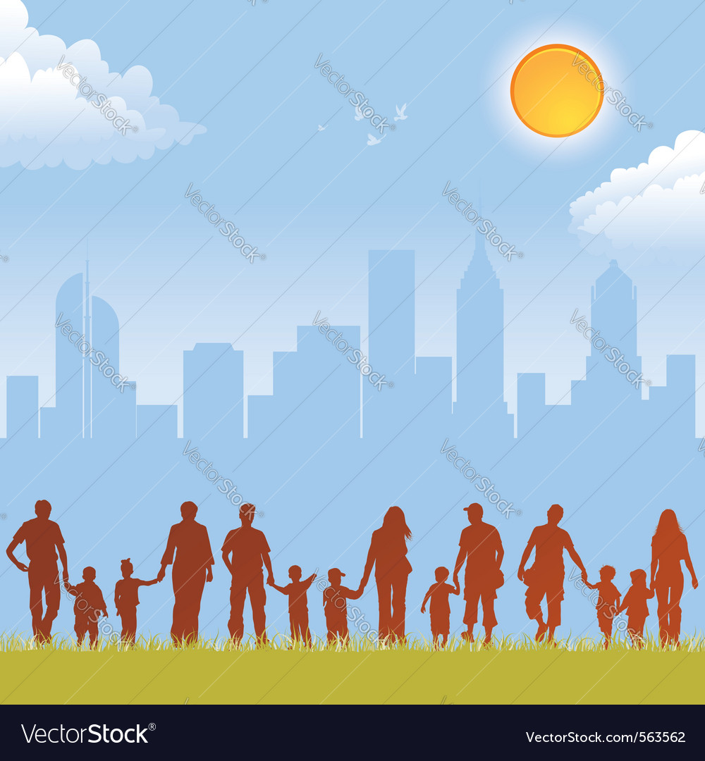 Parent and child silhouettes vector | Price: 1 Credit (USD $1)