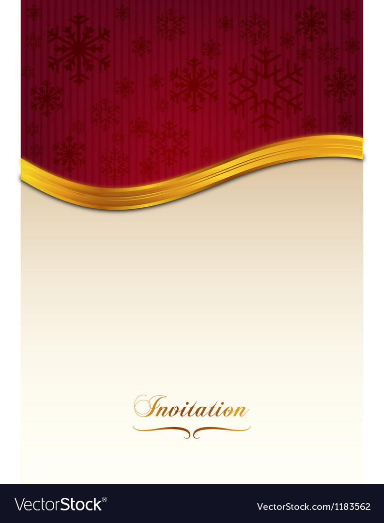 Red invitation vector | Price: 1 Credit (USD $1)