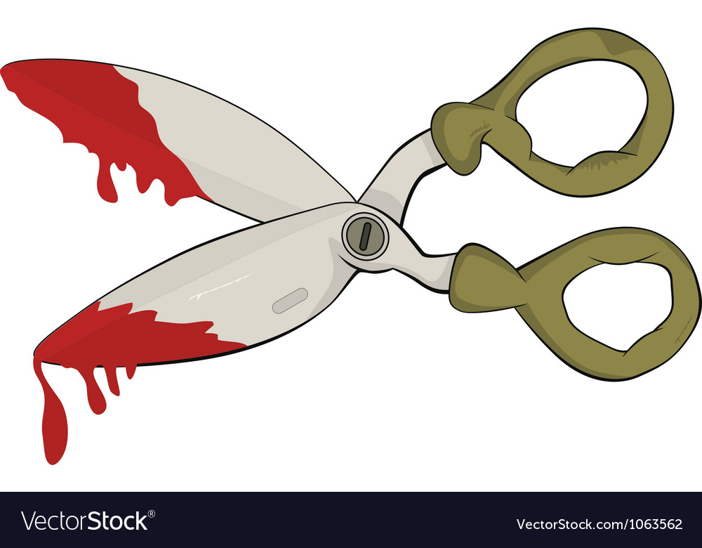 Scissors in blood vector | Price: 1 Credit (USD $1)