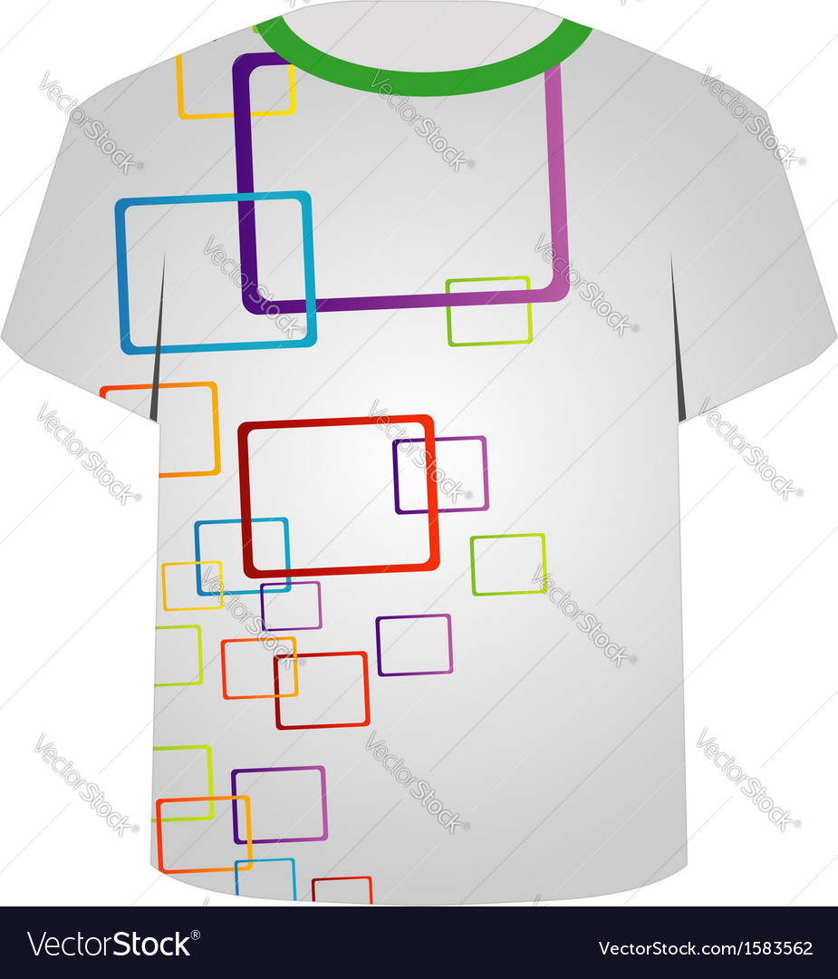 T shirt template- shape art vector | Price: 1 Credit (USD $1)