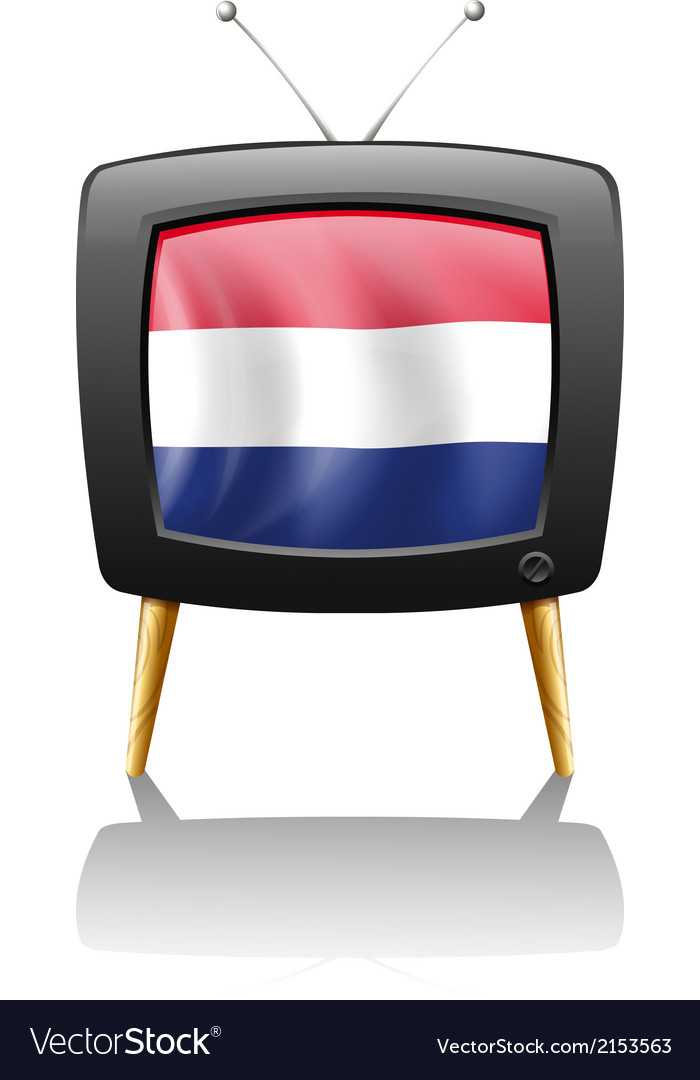 A television with the flag of the netherlands vector | Price: 1 Credit (USD $1)