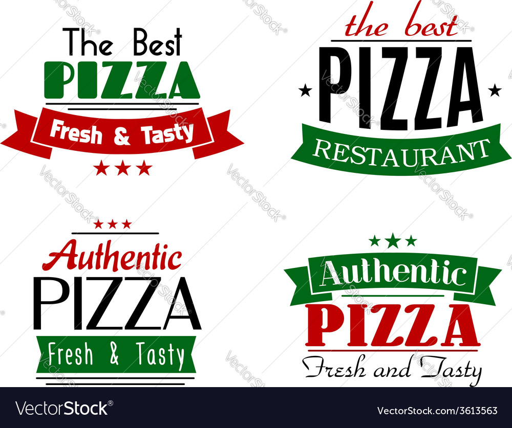 The best authentic pizza emblems vector | Price: 1 Credit (USD $1)