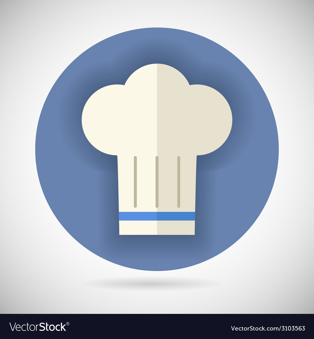 Chief cook symbol toque cuisine food icon on vector | Price: 1 Credit (USD $1)