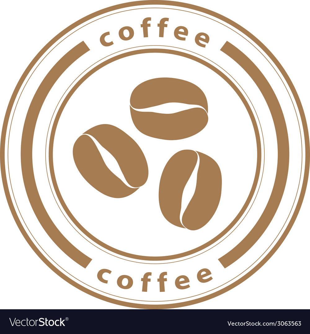 Coffee beans stamp vector | Price: 1 Credit (USD $1)