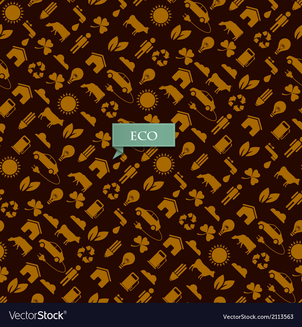Eco pattern vector | Price: 1 Credit (USD $1)
