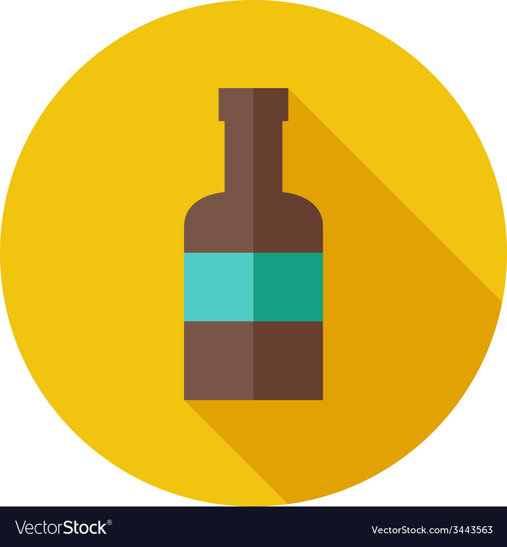 Flat modern round bottle icon vector | Price: 1 Credit (USD $1)
