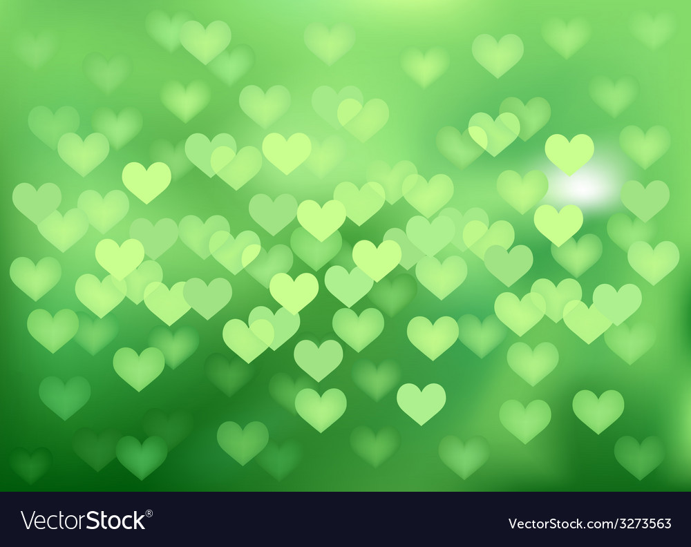 Green festive lights in heart shape background vector | Price: 1 Credit (USD $1)