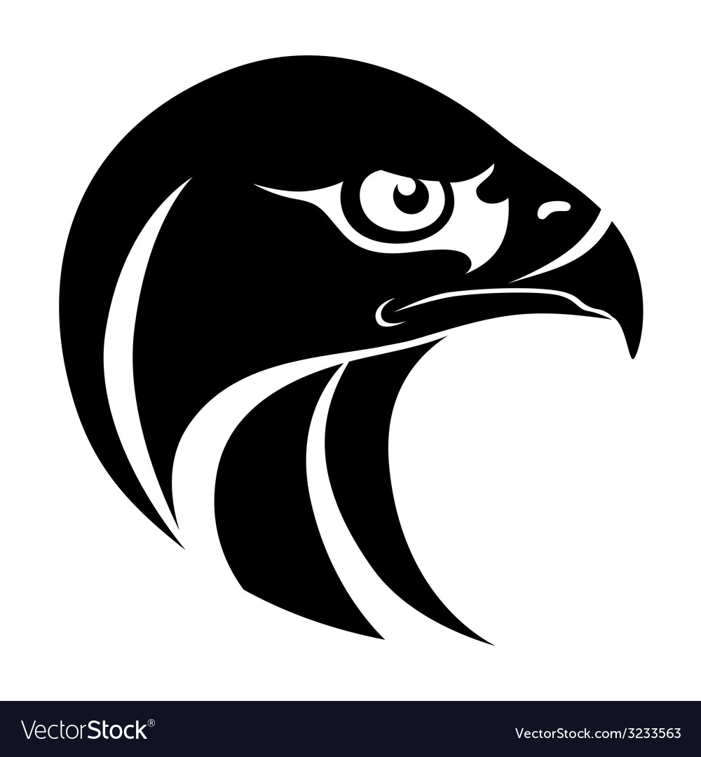 Hawk head symbol vector | Price: 1 Credit (USD $1)