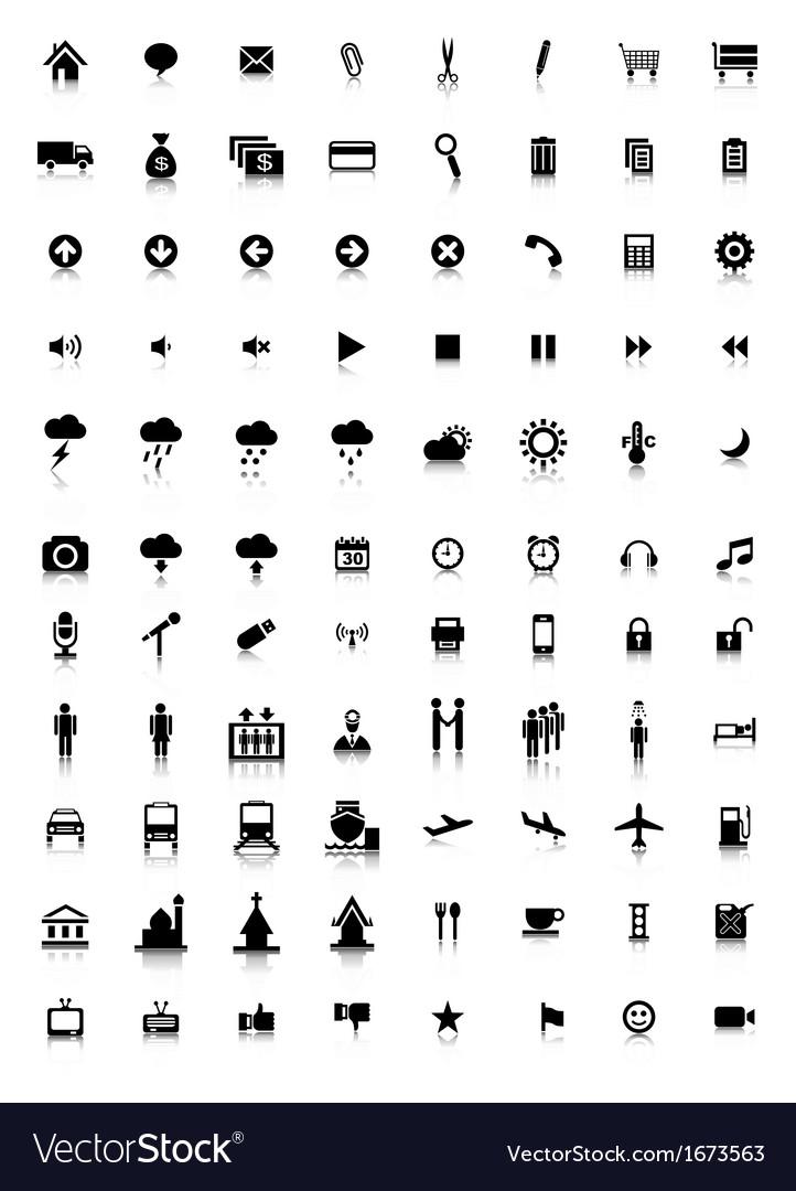Icon set vector | Price: 1 Credit (USD $1)