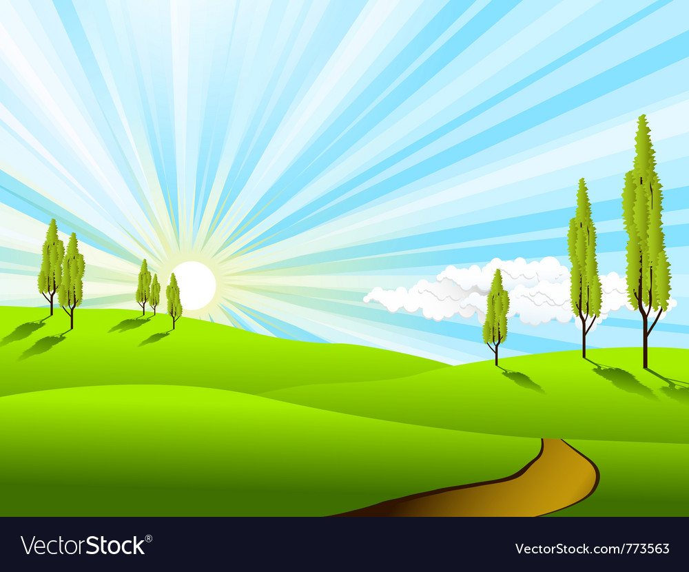 Landscape fields vector | Price: 1 Credit (USD $1)