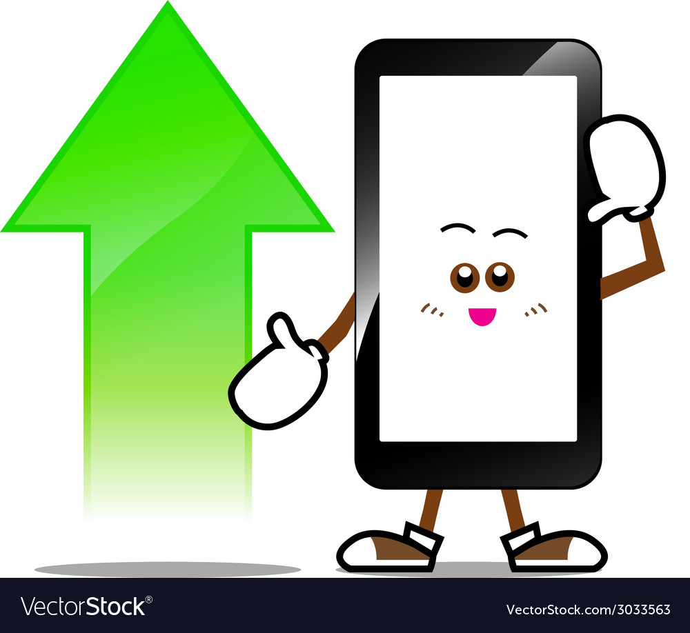 Mobile phone smart phone vector | Price: 1 Credit (USD $1)