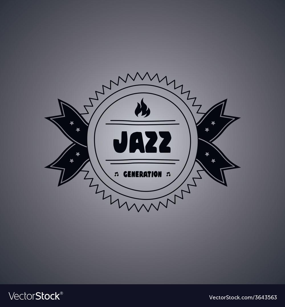 Music label sticker vector | Price: 1 Credit (USD $1)