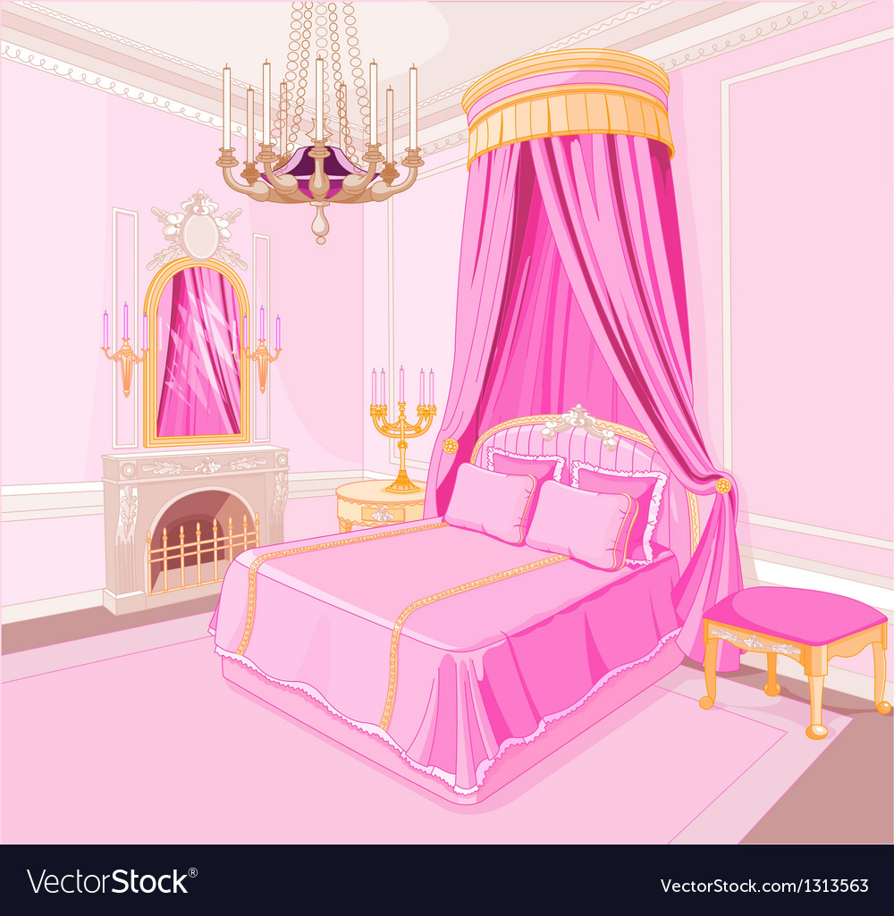 Princess bedroom vector | Price: 3 Credit (USD $3)