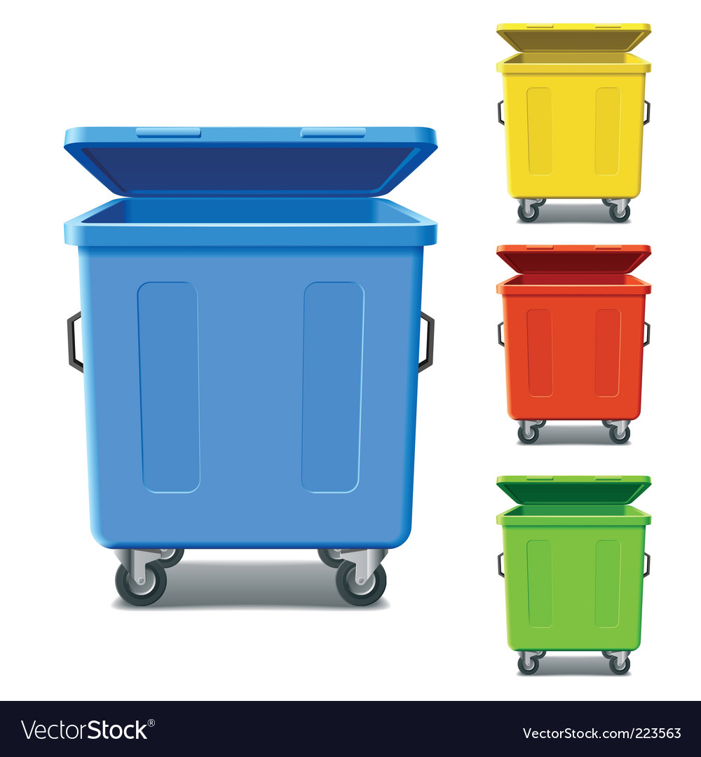 Recycling bins vector | Price: 3 Credit (USD $3)