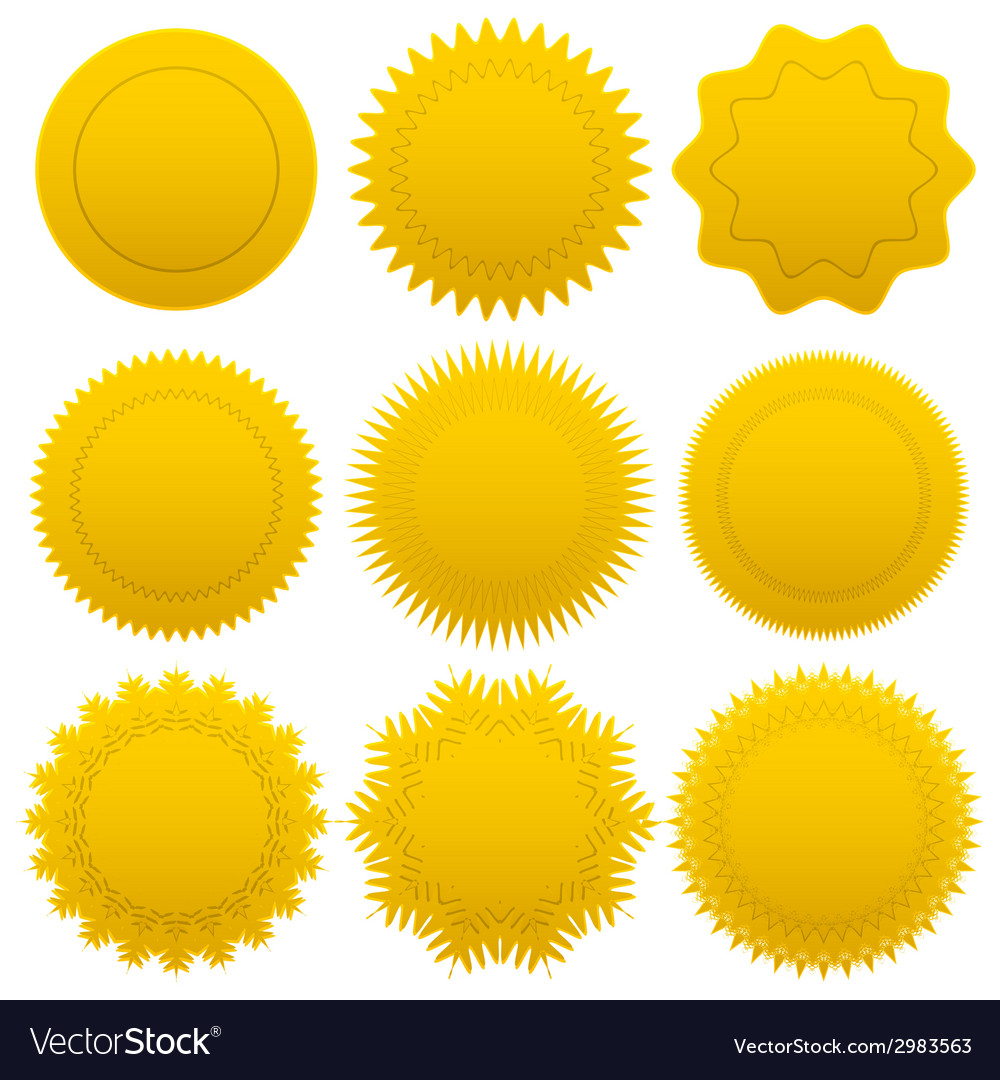 Set gold medals vector | Price: 1 Credit (USD $1)