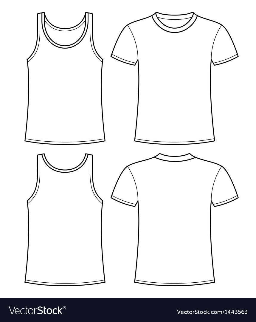 Singlet and t-shirt template vector | Price: 1 Credit (USD $1)