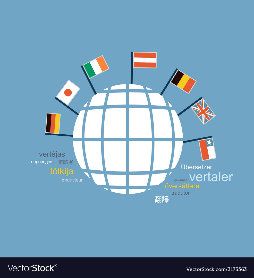 Translator knows many languages of different vector | Price: 1 Credit (USD $1)