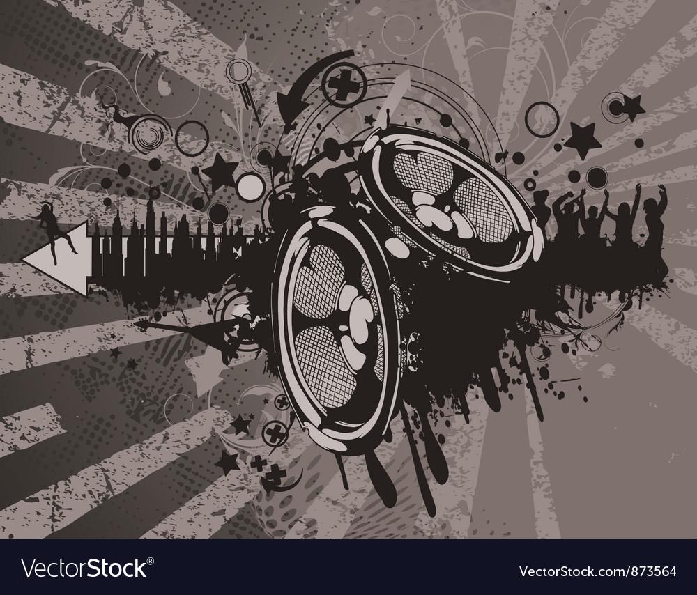 Concert wallpaper with speakers vector | Price: 1 Credit (USD $1)