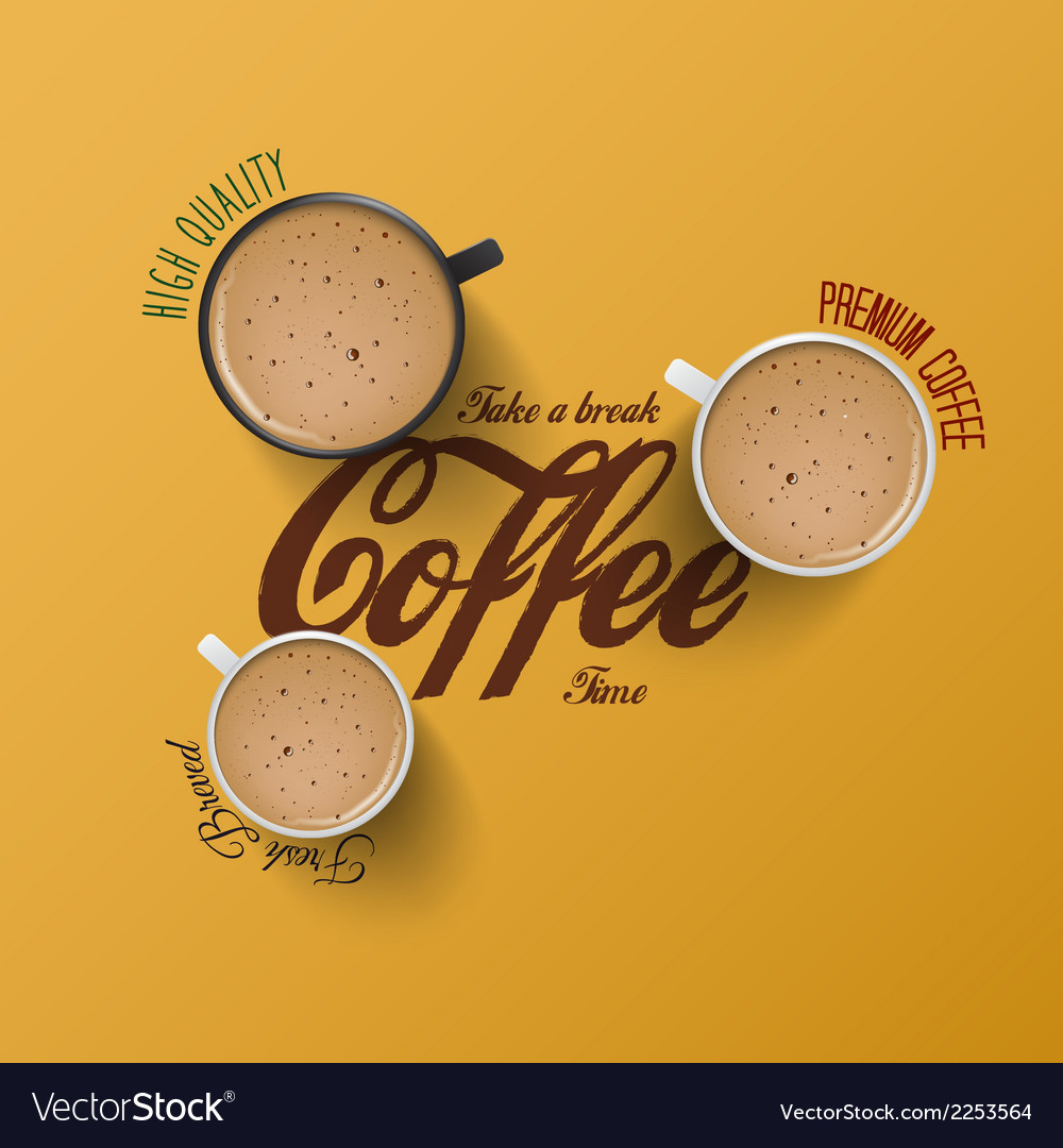 Cup of coffee 2 vector | Price: 1 Credit (USD $1)