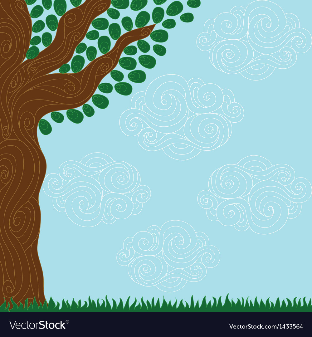 Curly tree vector | Price: 1 Credit (USD $1)