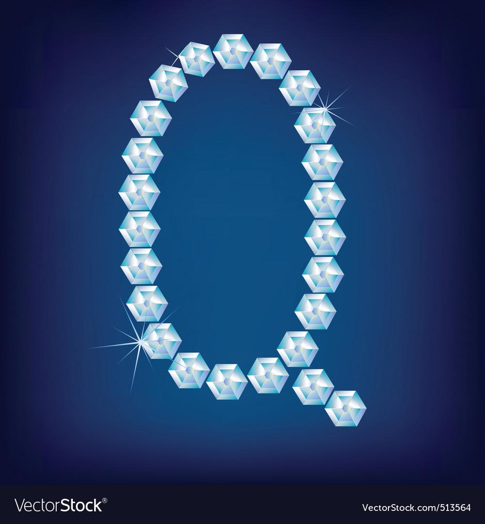 diamond alphabet lette q vector   Price: 1 Credit (USD $1)