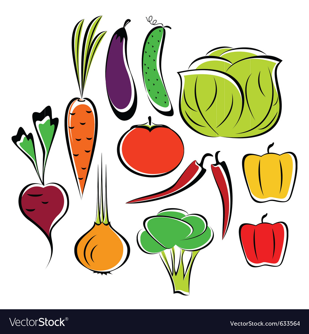 Different vegetables vector | Price: 1 Credit (USD $1)