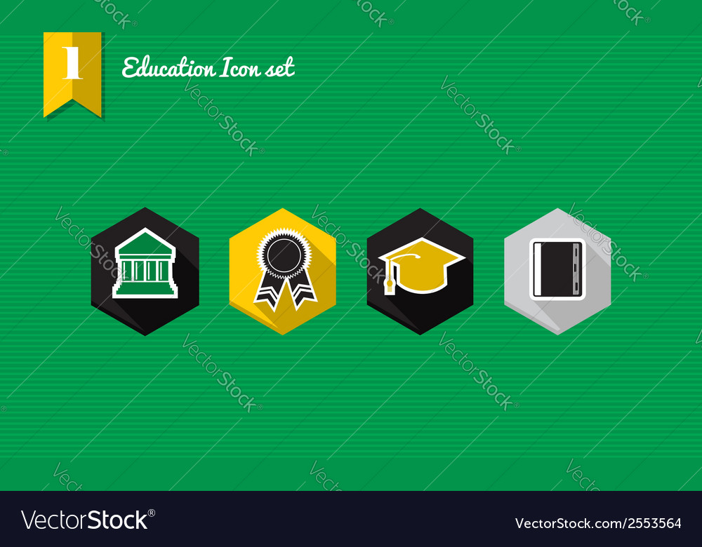 Education icons vector