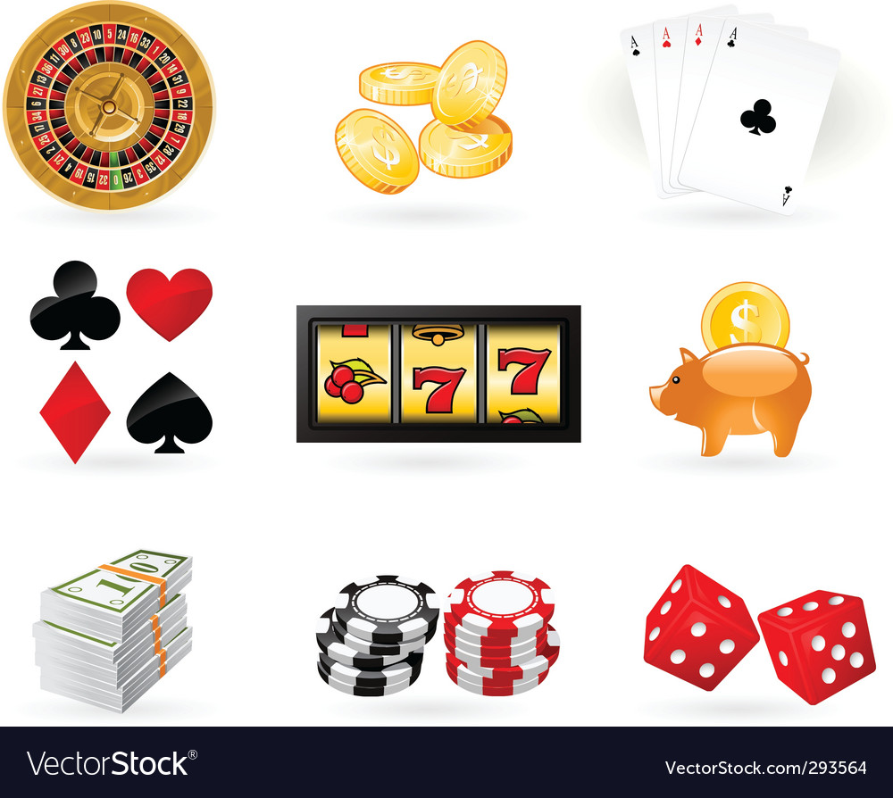 Gambling icon set vector | Price: 3 Credit (USD $3)