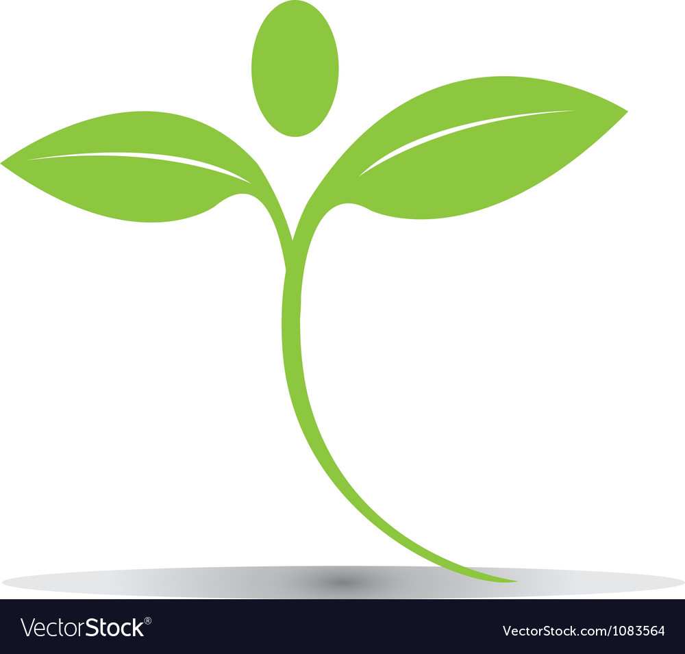 Green plant figure logo vector | Price: 1 Credit (USD $1)