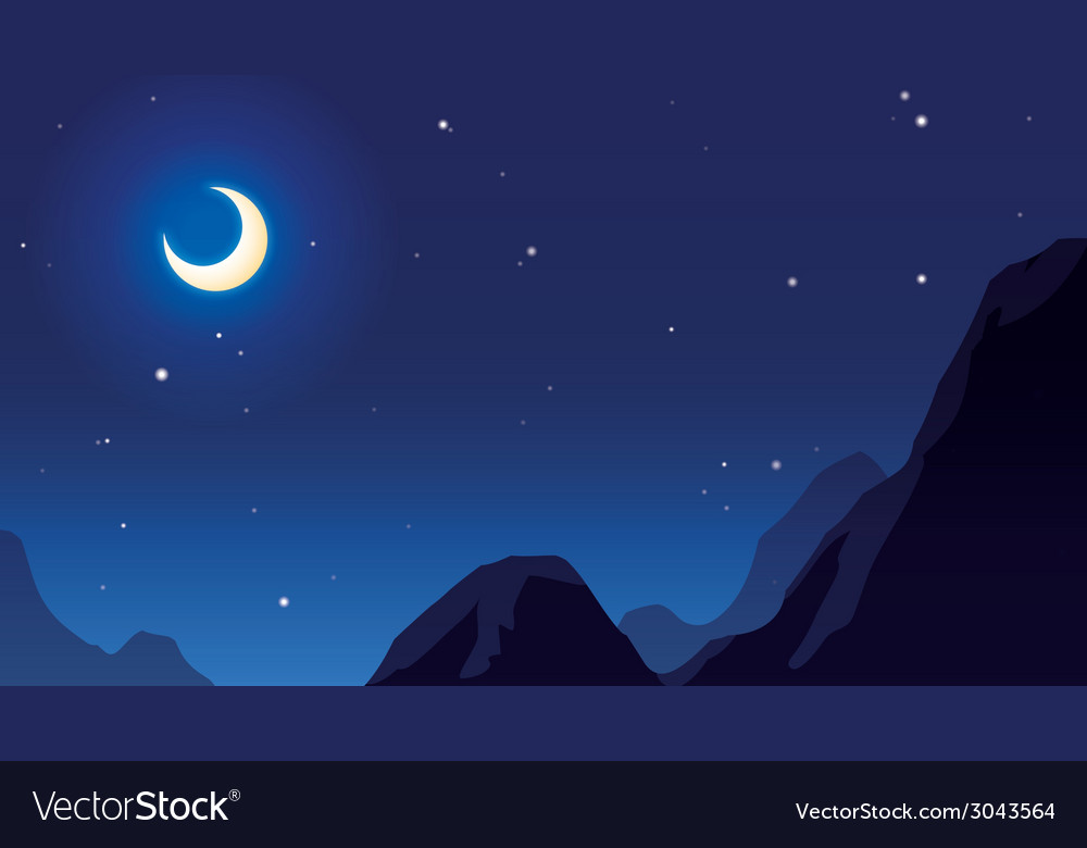 Moonandstar vector | Price: 1 Credit (USD $1)