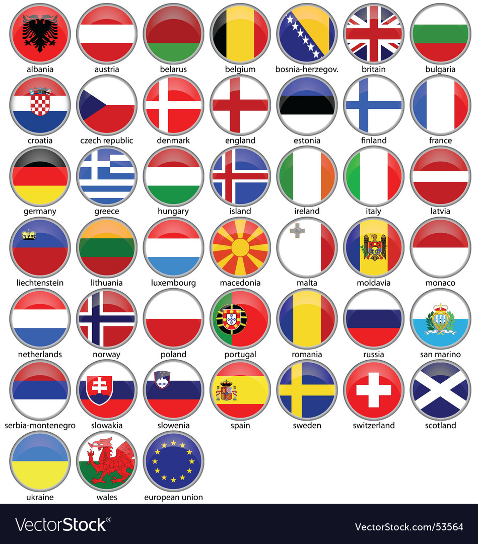 Shiny flags vector | Price: 1 Credit (USD $1)