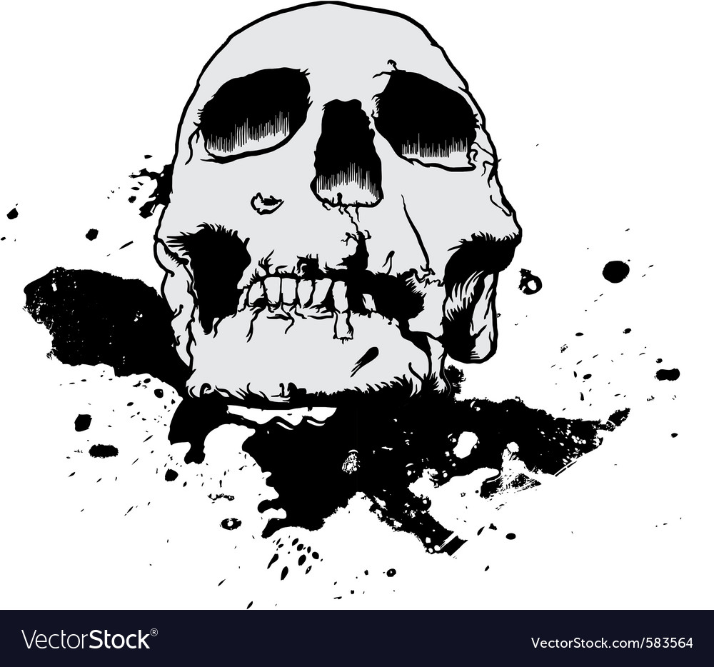 Skull mud splatter vector | Price: 1 Credit (USD $1)