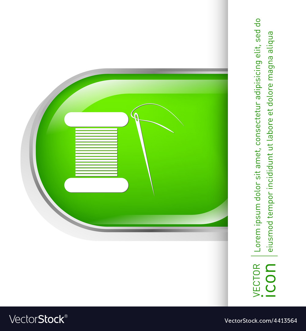 Spool of thread and needle a symbol of fashion vector   Price: 1 Credit (USD $1)