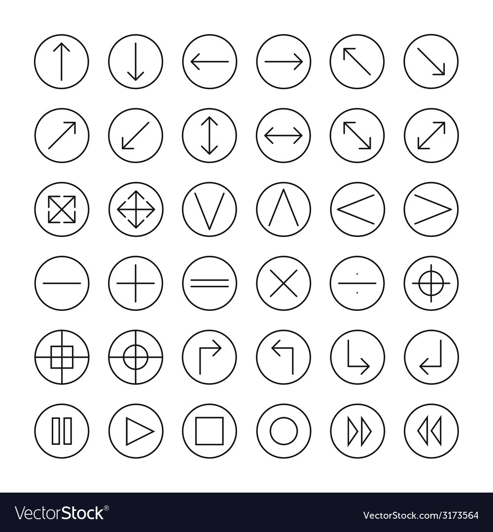 Thin icons set for web and mobile line simple vector | Price: 1 Credit (USD $1)
