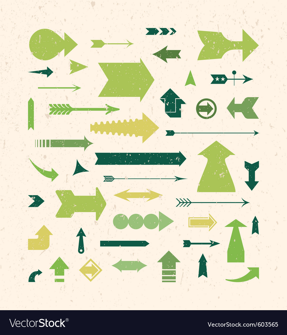 Arrows set vector | Price: 1 Credit (USD $1)