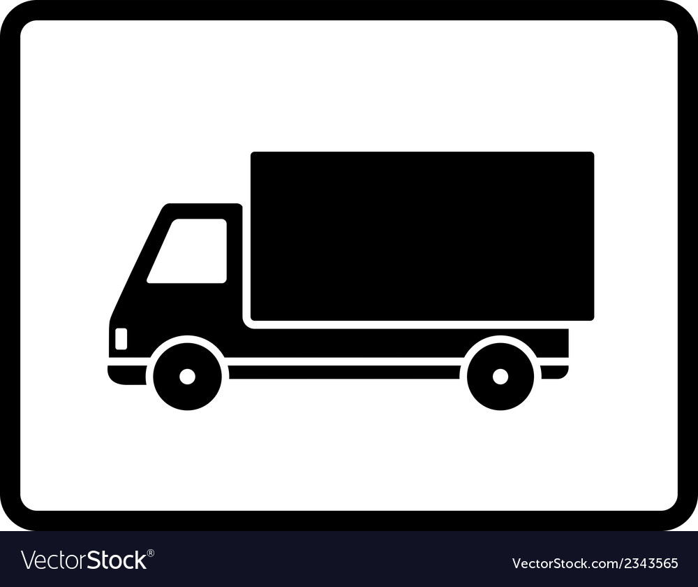 Black delivery truck vector | Price: 1 Credit (USD $1)