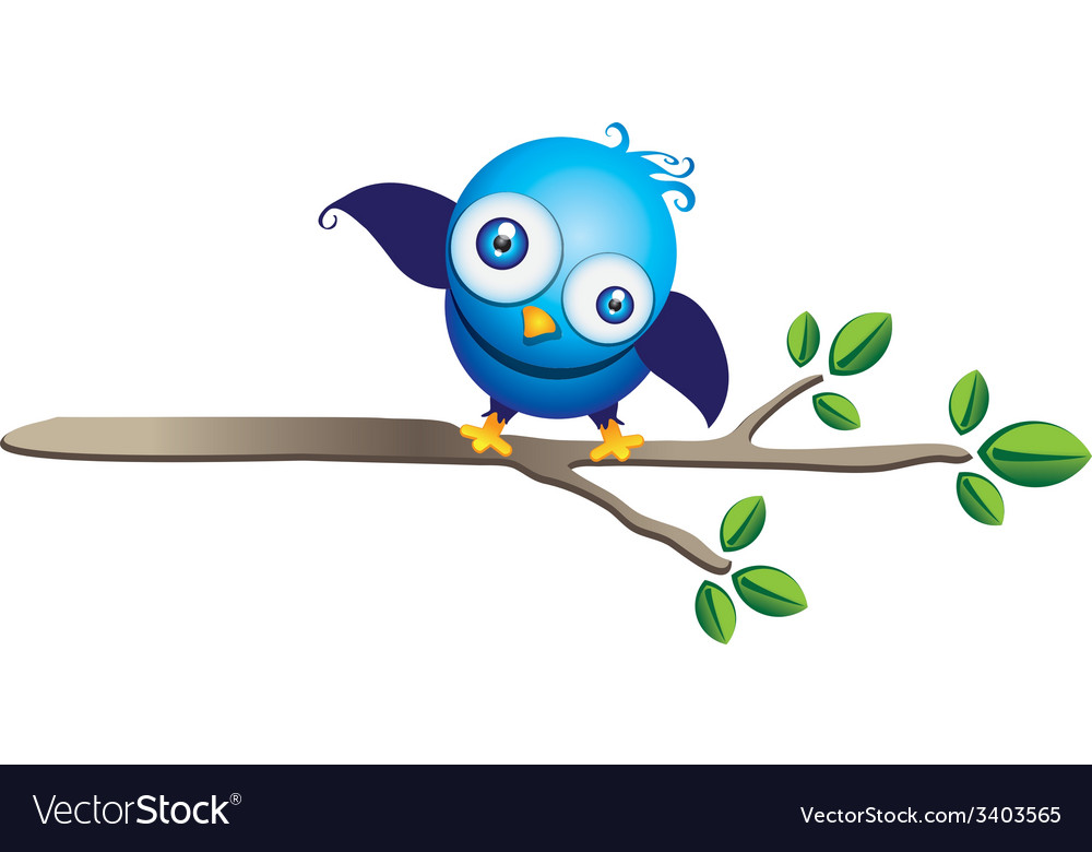 Blue bird vector | Price: 1 Credit (USD $1)