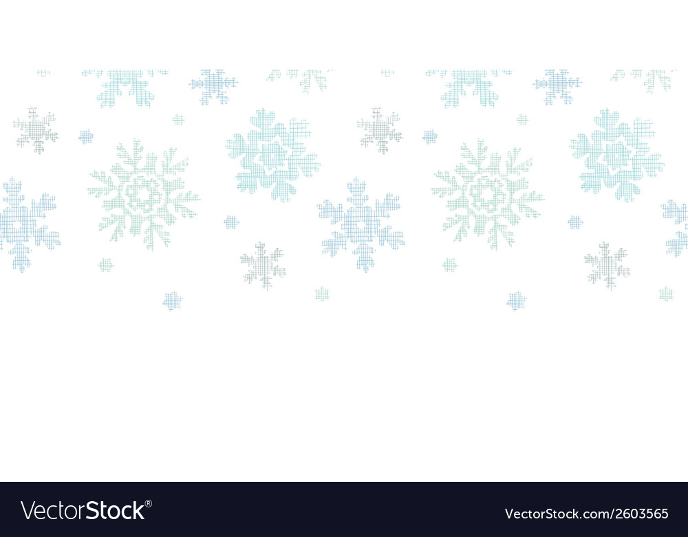 Blue christmas snowflakes textile texture vector | Price: 1 Credit (USD $1)