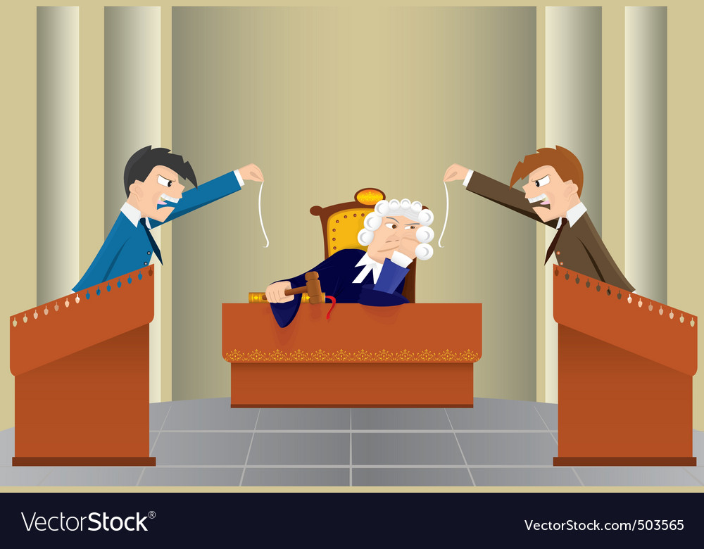 Cartoon judicial sitting vector | Price: 1 Credit (USD $1)